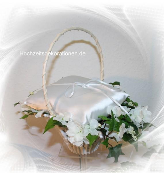 Ringkörbchen hochzeit hortensien