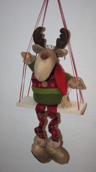 Weihnachtsdeko elch Schaukel