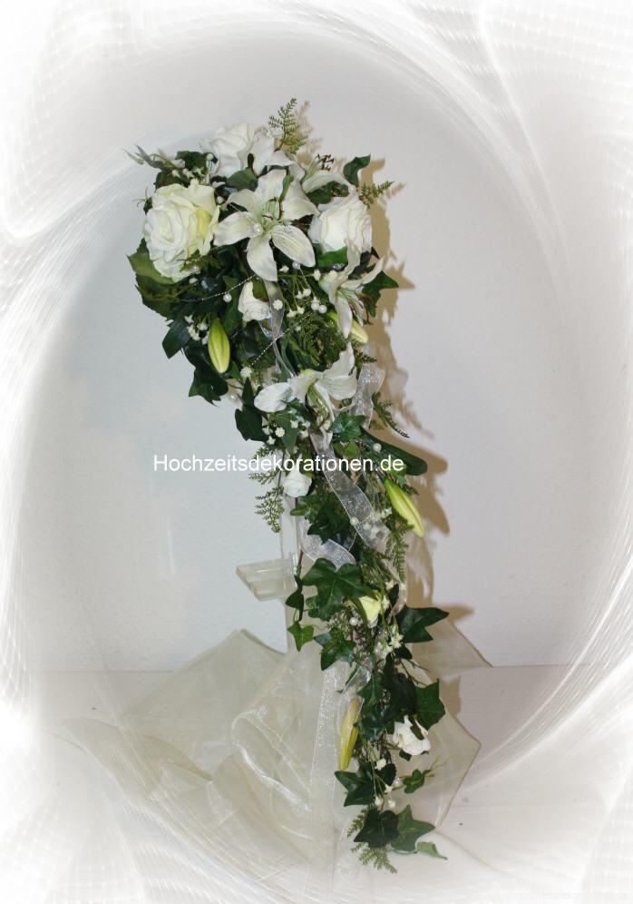 Lnager Wasserfall Lilienbrautstrauss Hochzeitsdekorationen