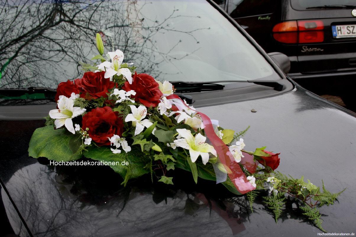 Autoschmuck Lilien Modern Hochzeitsdekorationen