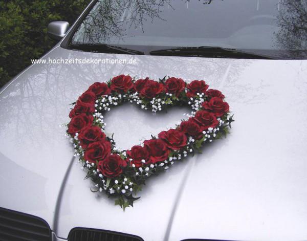 Autoherz Hochzeit streng