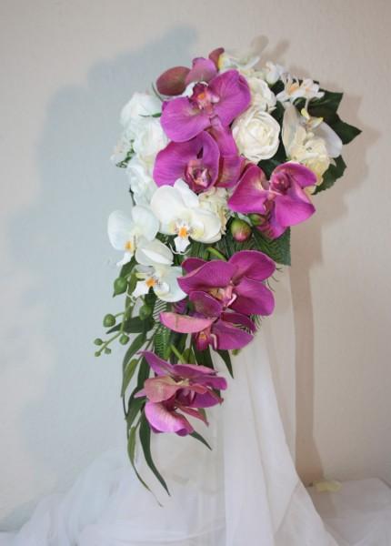 brautstrauss orchideen klassik hochzeitsdekorationen. Black Bedroom Furniture Sets. Home Design Ideas