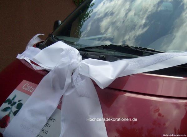 Autoschleife Hochzeit Spitze