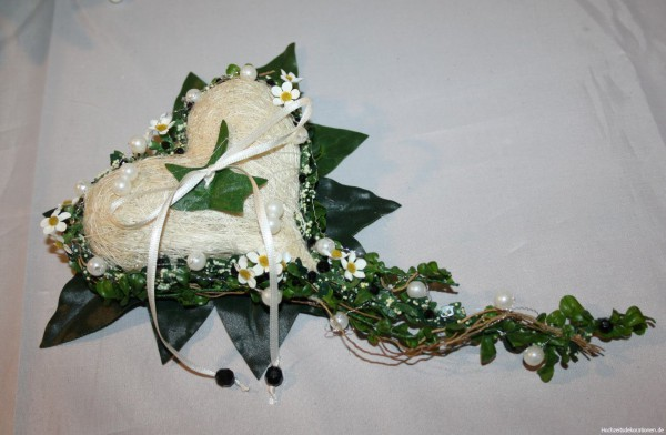 Ringkissen Ringdeko Efeu Hochzeitsdekorationen