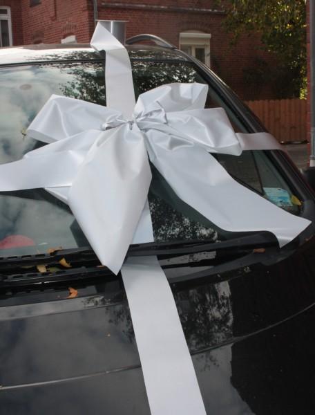 Schleife silber auto geschenk