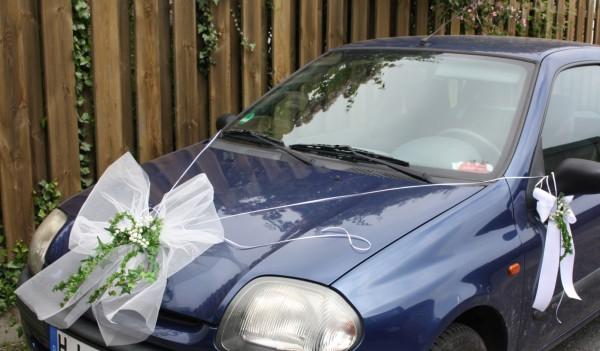 Autoschleife Hochzeit Tüll