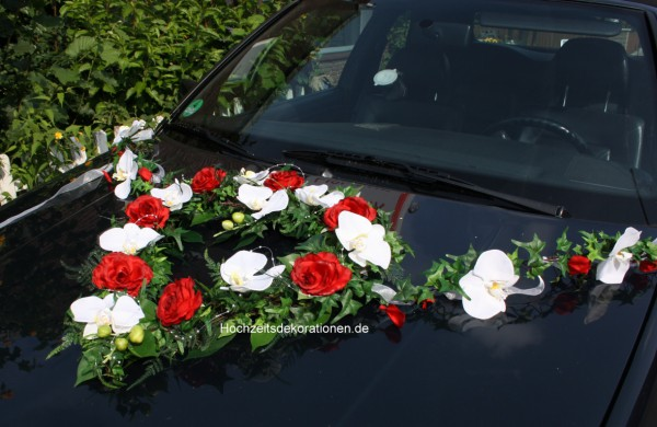Autoherz Orchideen Hochzeit