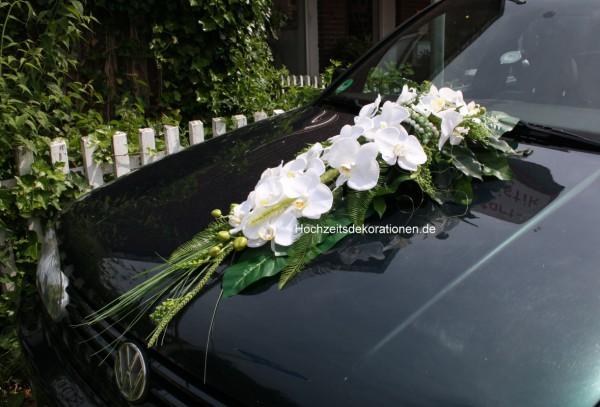 Autoschmcuk hochzeit orchideen