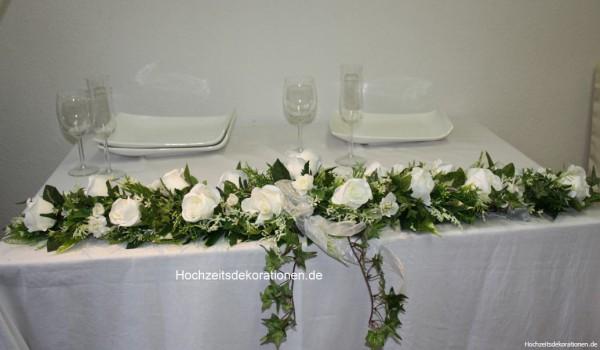 Altargirlande Hochzeit wuschig
