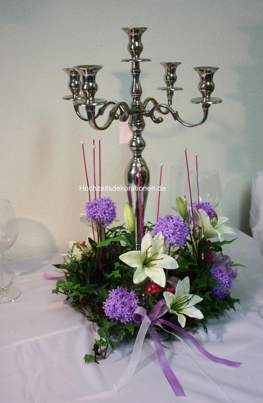 Gesteck Rondell Kerzenleuchter Hochzeitsdekorationen