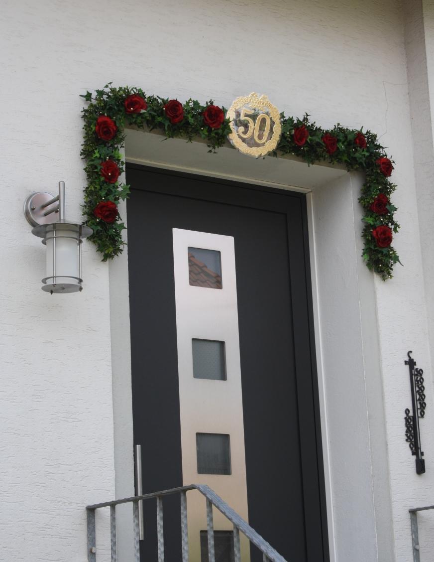 Girlande Tür Für Goldene Hochzeit In Ihrer Länge