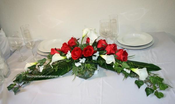 Paargesteck Rosen und Callas