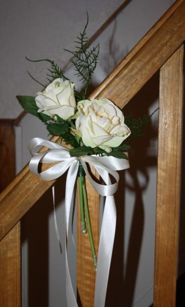 Kirchenbankdekos Rosen