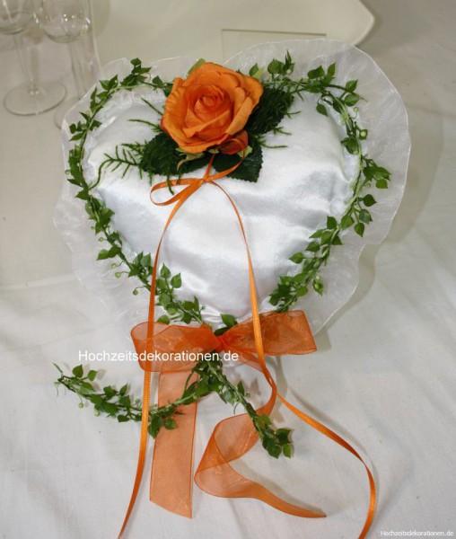 Ringkissen Herz Hochzeit