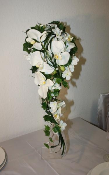 Brautstrauss orchideen gräser