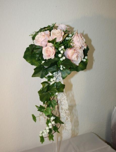Brautstrauss rosa mit maiglöckchen