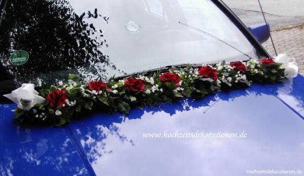 Autogirlande Hochzeit streng