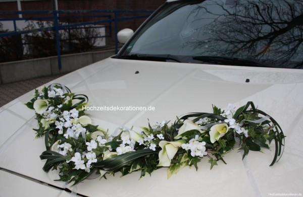 Autoschmuck Girlande Hochzeit