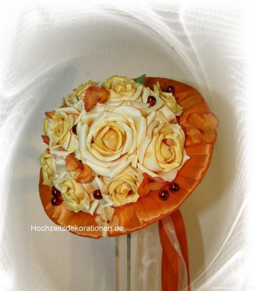 Brautstrauss Bandkragen Hochzeit