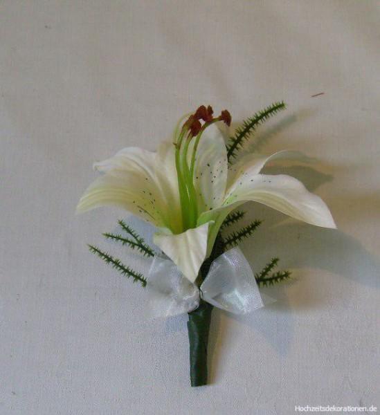 Anstecker hochzeit lilie