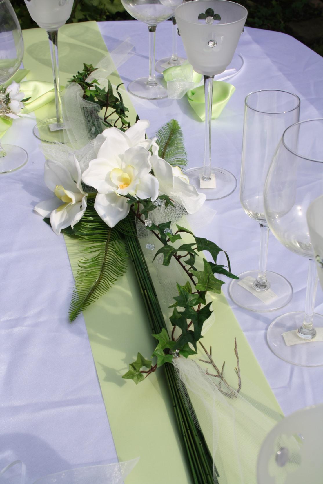 Tischdeko cymbidium orchidee hochzeitsdekorationen for Moderne runde tische