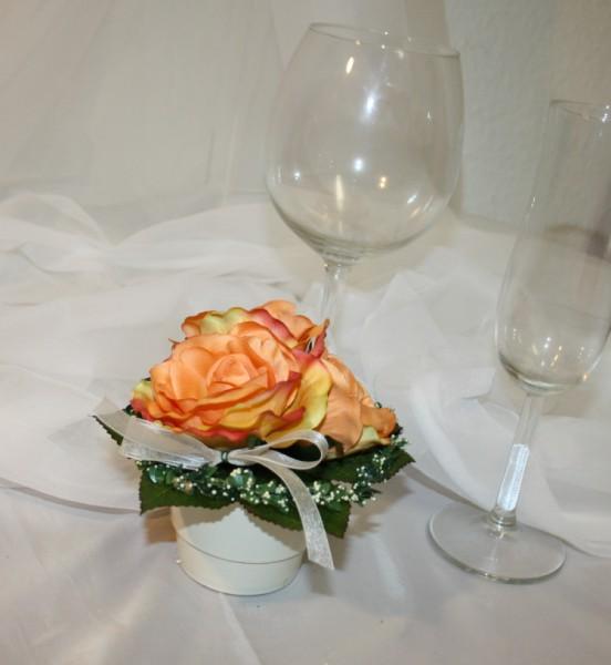 Kleiner Topf Hochzeit rosen
