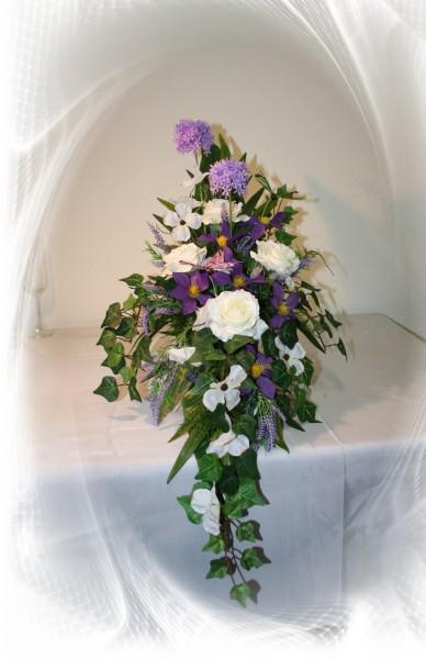 Gesteck Altar Säule Sommer