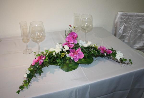 Paargesteck Hochzeitsdeko orchidee