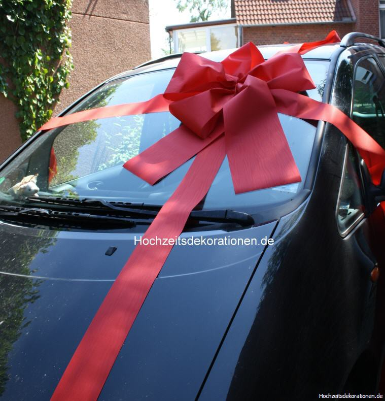 Geschenkschleife Auto Rot Hochzeitsdekorationen