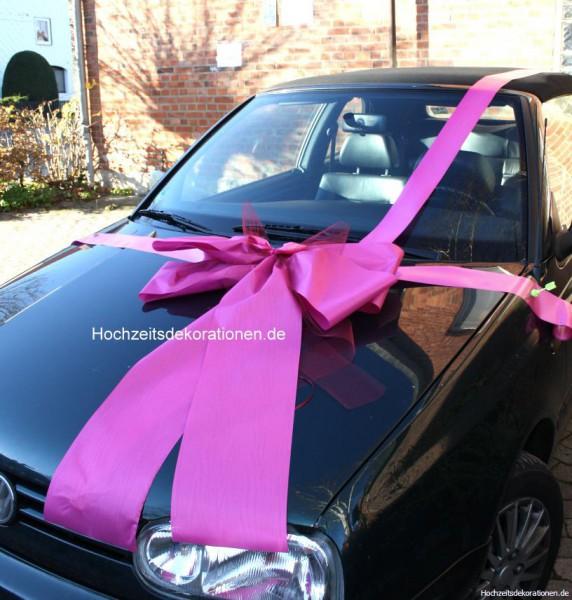Geschenkschleife Auto pink